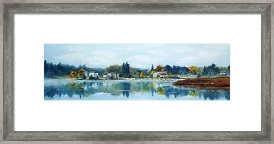 Misty Morning Framed Print by Cathleen Richards-Green
