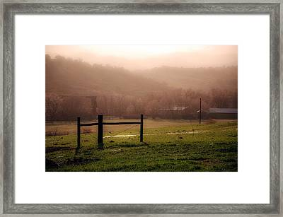 Misty Morning Framed Print