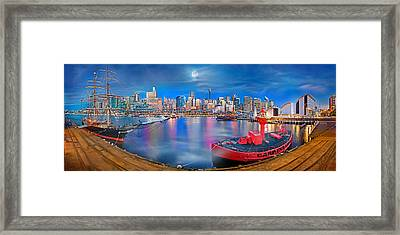 Misty Morning Harbour Framed Print by Az Jackson