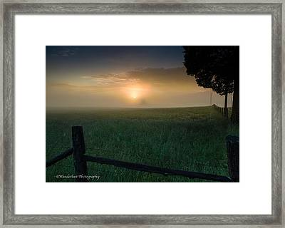 Misty Morning Hop Framed Print by Paul Herrmann