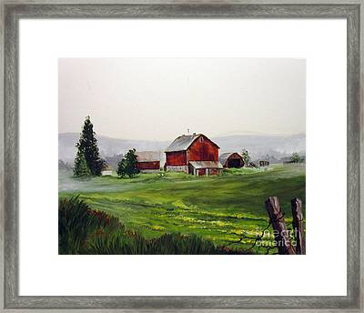 Misty Morning In Apulia Framed Print