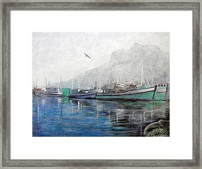 Misty Morning In Hout Bay Framed Print by Michael Durst