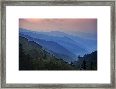 Misty Morning In The Mountains Framed Print by Andrew Soundarajan
