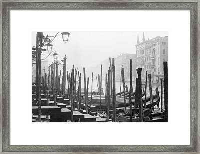 Misty Morning In Venice Framed Print by Dorothy Berry-Lound