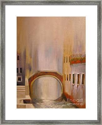Misty Morning In Venice Framed Print by Nancy Bradley