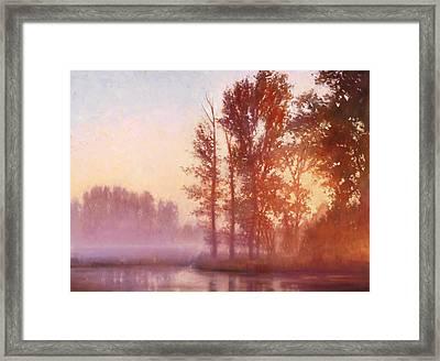 Misty Morning Memory Framed Print by Michael Orwick