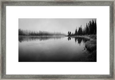 Misty Morning On Reflection Lake Framed Print by Brian Xavier