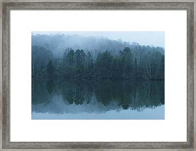 Misty Morning On The Clinch River Framed Print by Rita Mueller
