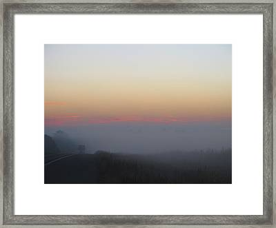 Misty Morning Road Framed Print by Wendy J St Christopher