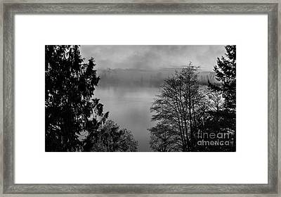 Misty Morning Sunrise Black And White Art Prints Framed Print