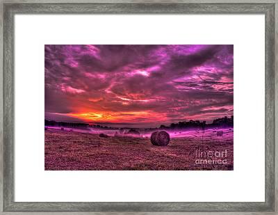 Misty Morning Sunrise Framed Print by Reid Callaway