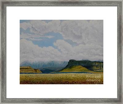Misty Mountain Framed Print by Caroline Street