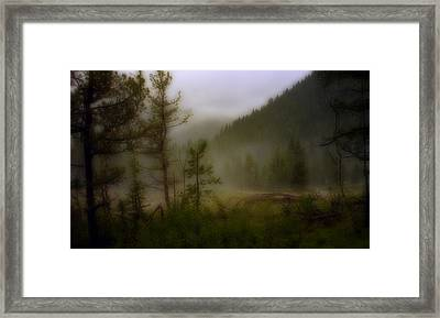 Framed Print featuring the photograph Misty Mountain by Ellen Heaverlo