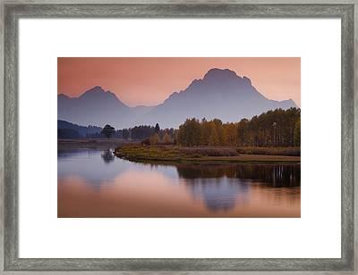 Misty Mountain Evening Framed Print by Andrew Soundarajan
