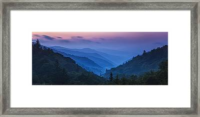 Misty Mountain Morning Framed Print