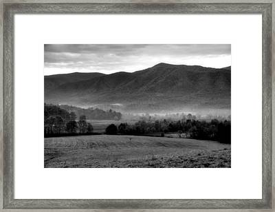 Misty Mountain Morning Framed Print by Dan Sproul