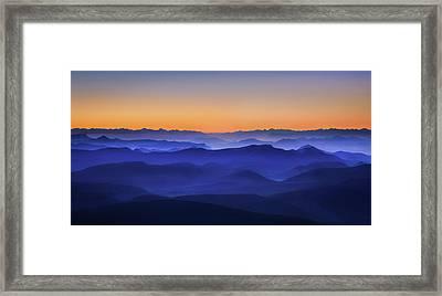 Misty Mountains Framed Print by David Bouscarle