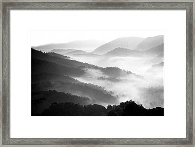 Misty Mountains Framed Print by Wendell Thompson