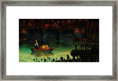 Misty Night Framed Print by Kristina Vardazaryan