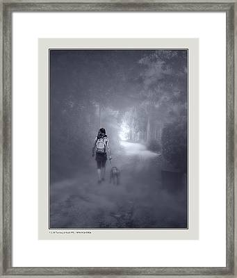 Framed Print featuring the photograph Misty Path by Pedro L Gili