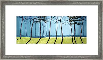 Misty Pines Framed Print by Michael Dillon