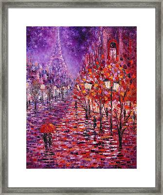 Misty Purple Framed Print