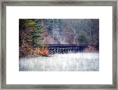 Misty Rails Framed Print