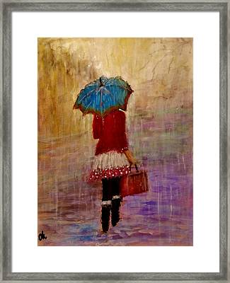 Misty Rain... Framed Print