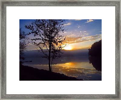 Misty Reflections Framed Print