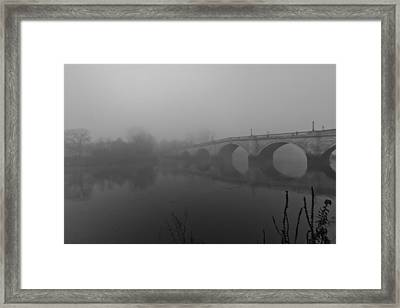 Misty Richmond Bridge Framed Print by Maj Seda
