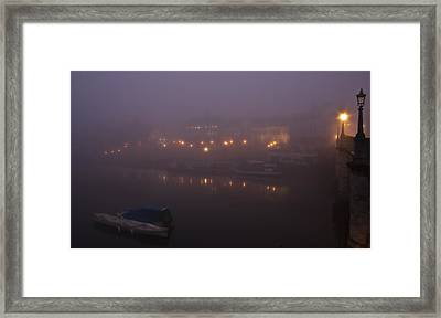 Misty Richmond Upon Thames Framed Print by Maj Seda