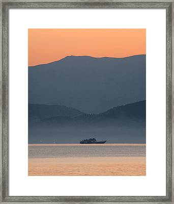 Misty Ride Framed Print by Viacheslav Savitskiy