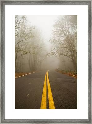 Misty Road Framed Print