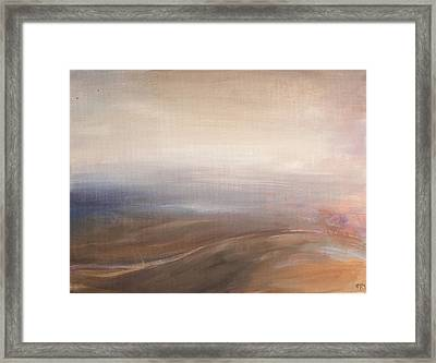 Misty Road Framed Print by Tanya Byrd
