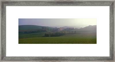 Misty Rural Scene, Near Neuhaus, Black Framed Print