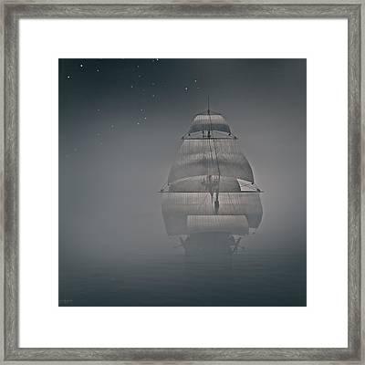 Misty Sail Framed Print by Lourry Legarde
