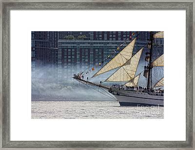 Misty Sails Framed Print