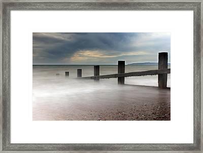Misty Seascape Framed Print by Jay Harrison