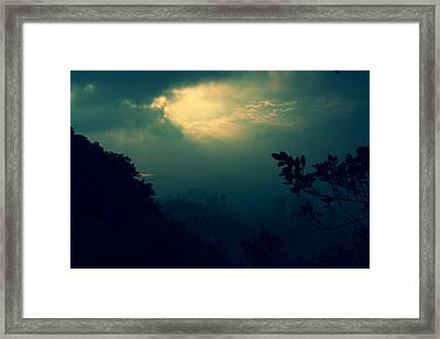 Misty Sunlight Framed Print