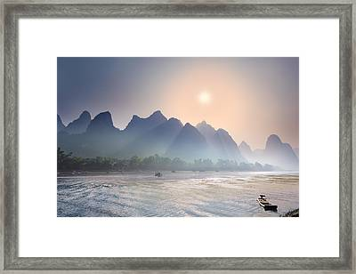 Misty Sunrise 2 Framed Print