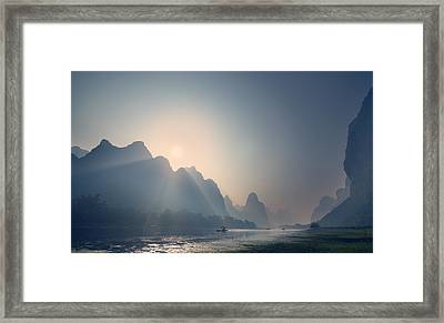 Misty Sunrise 3 Framed Print
