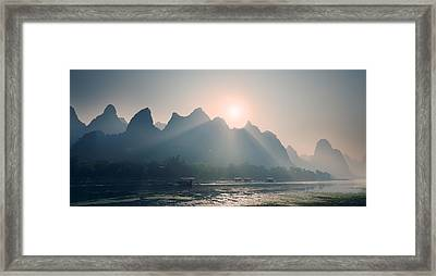 Misty Sunrise 4 Framed Print