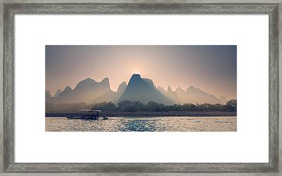 Misty Sunrise 5 Framed Print