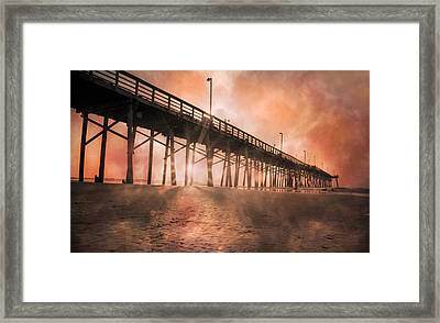 Misty Sunrise Framed Print by Betsy Knapp