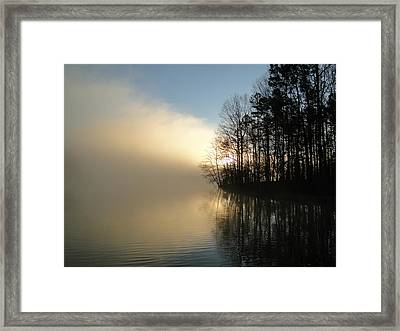 Misty Sunrise Framed Print by Cindy Croal