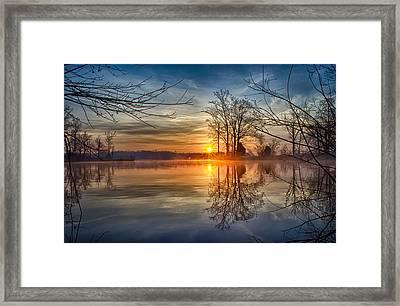 Misty Sunrise Framed Print by Dan Holland