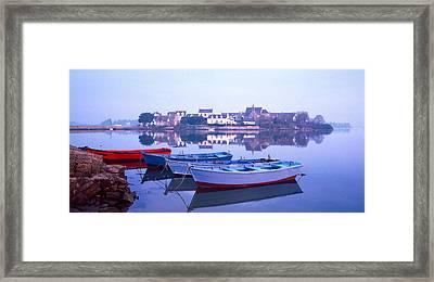 Misty Sunrise Over Etel River Framed Print