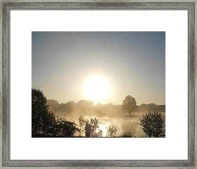 Framed Print featuring the photograph Misty Sunrise by Teresa Schomig