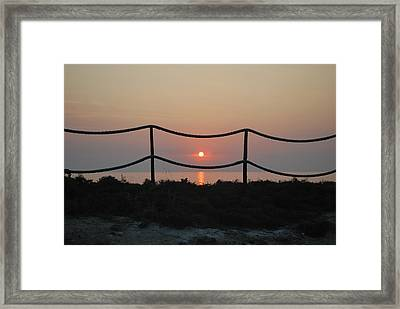Misty Sunset 1 Framed Print by George Katechis