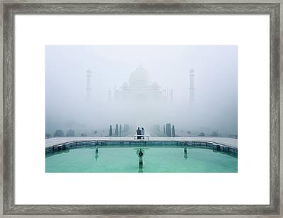 Misty Taj Mahal Framed Print